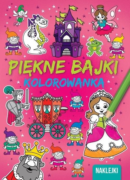 okładka Piękne bajki Kolorowanka, Książka |