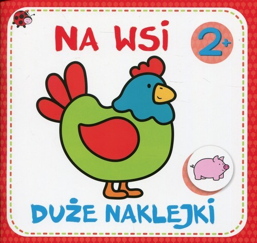 okładka Duże naklejki Na wsi, Książka |