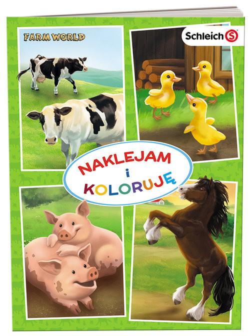 okładka SCHLEICH Farm World Naklejam i koloruję NAK-8301, Książka |