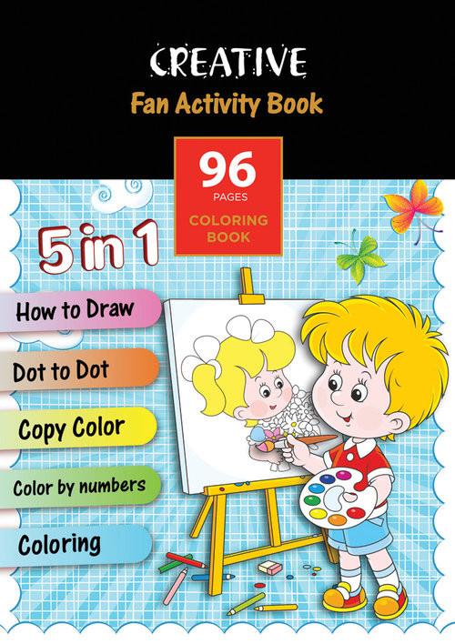 okładka Książeczka do kolorowania FUN ACTIVITY BOOK 96 str., Książka |