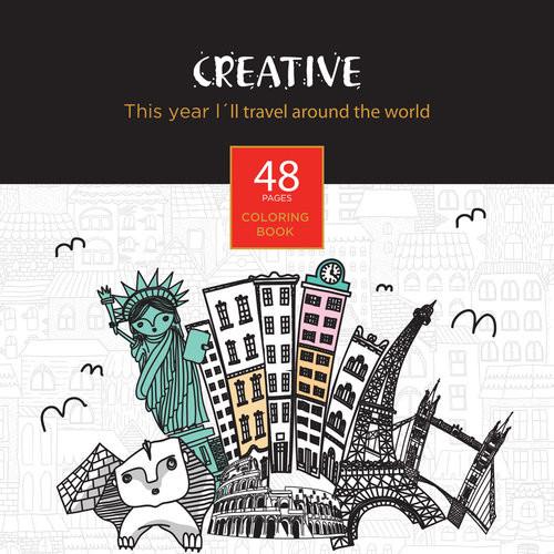 okładka Książeczka do kolorowania dla dorosłych Creative, Książka |
