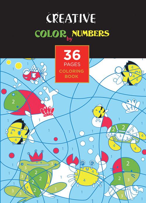 okładka Książeczka do kolorowania COLOR BY NUMBERS, Książka |