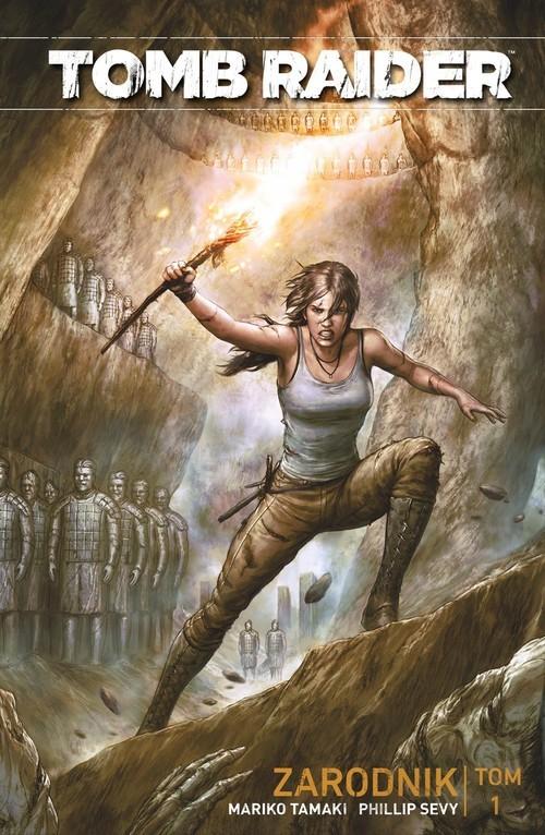 okładka Tomb Raider Tom 1 Zarodnikksiążka      Mariko Tamaki, Phillip Sevy