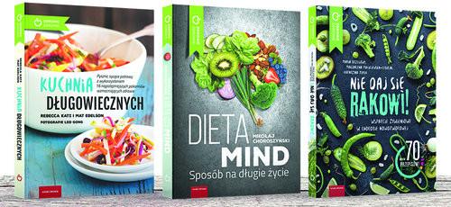 okładka Dieta antynowotworowa komplet 3 książek, Książka |