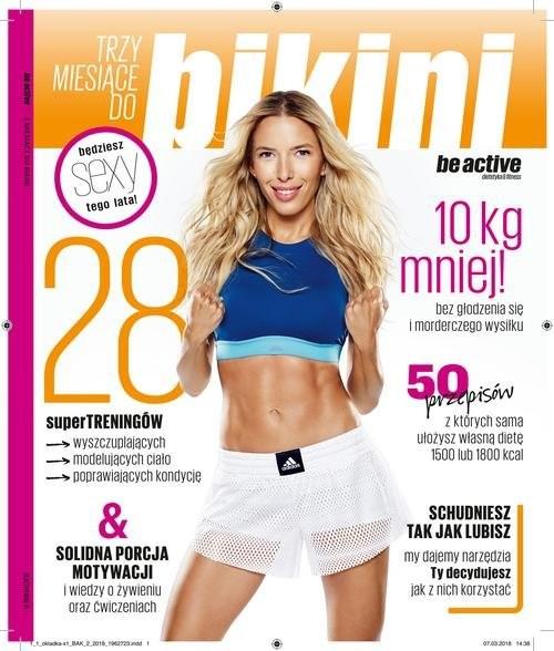 okładka be active Trzy miesiące do bikini, Książka   Ewa Chodakowska