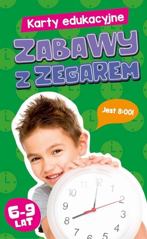 okładka Karty edukacyjne Zabawy z zegarem, Książka |