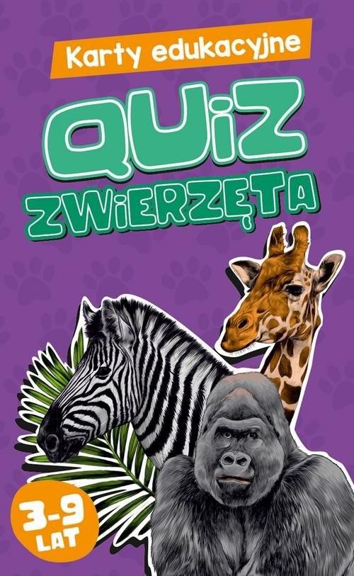 okładka Karty edukacyjne Quiz Zwierzętaksiążka      Czapczyk Paweł