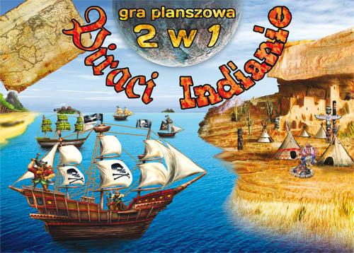 okładka Gra planszowa 2 w 1. Piraci. Indianieksiążka |  |
