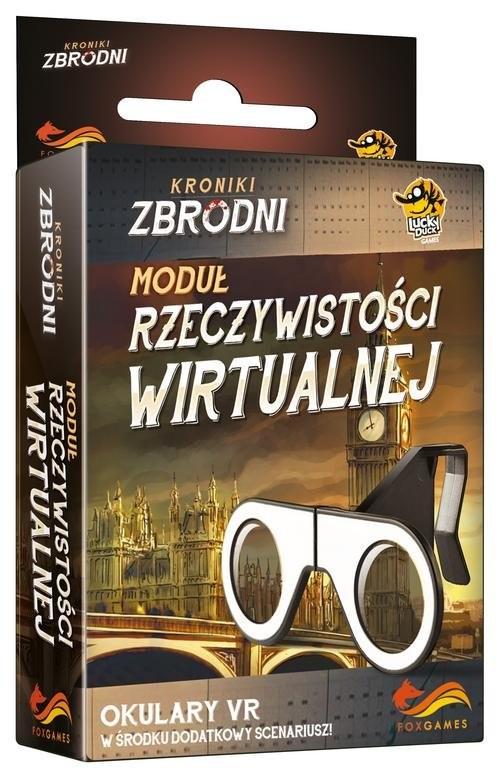 okładka Kroniki Zbrodni Moduł Rzeczywistości Okulary VR, Książka   Cicurel David