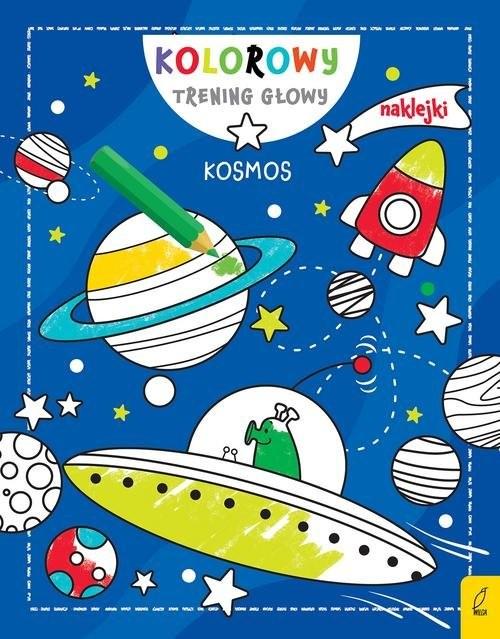 okładka Kolorowy trening głowy Kosmos, Książka |