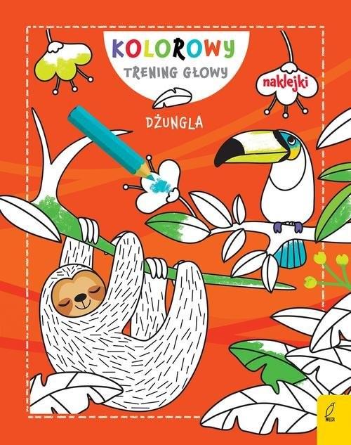 okładka Kolorowy trening głowy Dżungla, Książka |