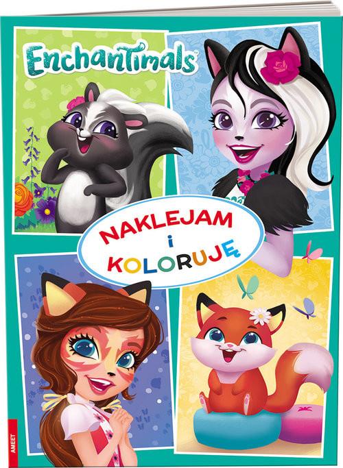 okładka Enchantimals Naklejam i koloruję, Książka |
