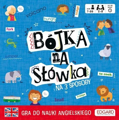 okładka Bójka na słówka Gra do nauki angielskiego, Książka | Patrycja Zakaszewska, Ewa Norman
