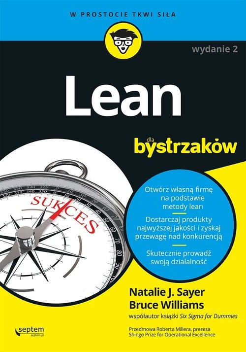 okładka Lean dla bystrzaków, Książka | Natalie J. Sayer, Bruce Williams