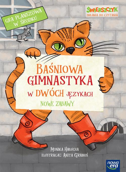okładka Baśniowa gimnastyka w dwóch językach. Nowe zabawy, Książka | Hałucha Monika