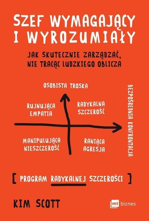 okładka Szef wymagający i wyrozumiały Jak skutecznie zarządzać, nie tracąc ludzkiego oblicza, Książka | Scott Kim