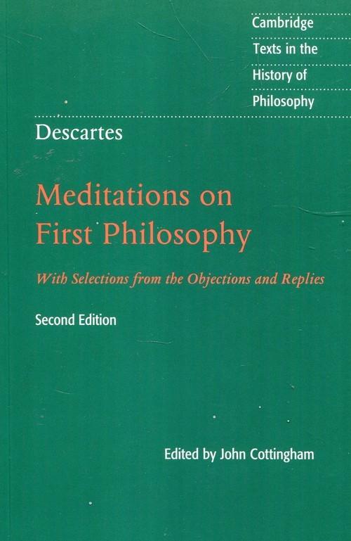 okładka Descartes Meditations on First Philosophyksiążka      Cottingham John