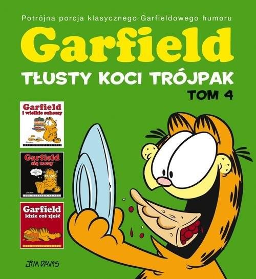 okładka Garfield Tłusty koci trójpak Tom 4książka      Davis Jim