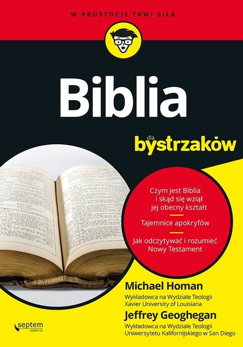 okładka Biblia dla bystrzaków, Książka | Jeffrey Geoghegan, Michael Homan