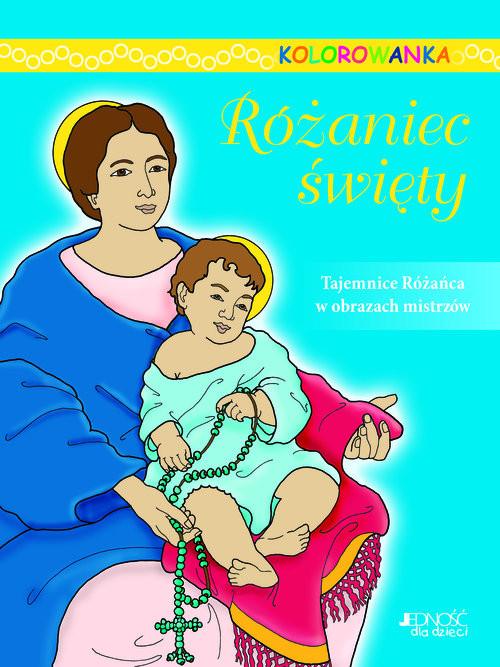 okładka Różaniec święty Kolorowanka, Książka |