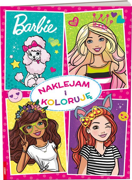 okładka Barbie Naklejam i koloruję NAK-1102, Książka |