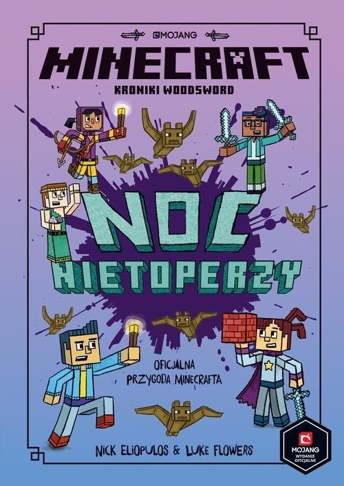 okładka Minecraft Noc nietoperzy, Książka |