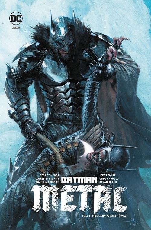 okładka Batman Metal Tom 3 Mroczny wszechświat, Książka | Scott Snyder, James Tynion, Jeff Lemire, Morr