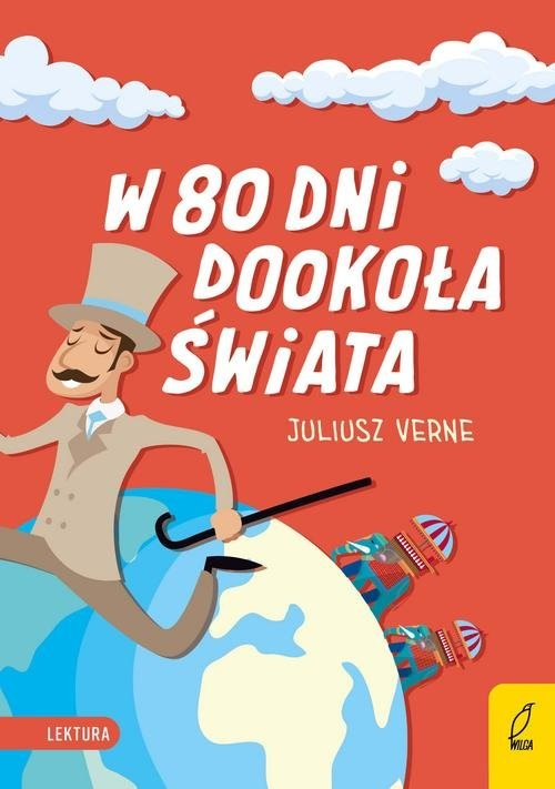 okładka W 80 dni dookoła świataksiążka      Juliusz Verne