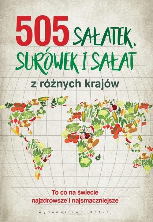 okładka 505 sałatek, surówek i sałat, Książka |