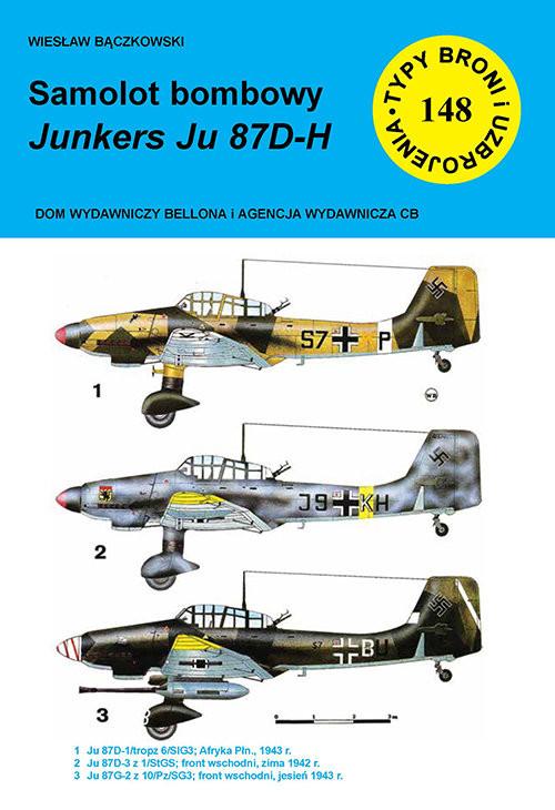 okładka Samolot bombowy Junkers Ju 87 D-Hksiążka      Bączkowski Wiesław