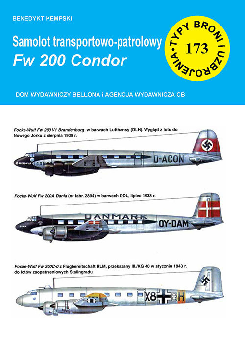 okładka Samolot transportowo-patrolowy Fw 200 Condor, Książka | Kempski Benedykt