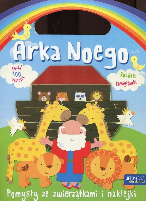 okładka Arka Noego Pomysły ze zwierzątkami i naklejkami, Książka | Miller Jocelyn