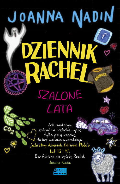 okładka Dziennik Rachel Szalone lata, Książka | Nadin Joanna