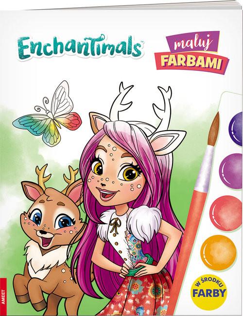 okładka Enchantimals Maluj farbami, Książka  