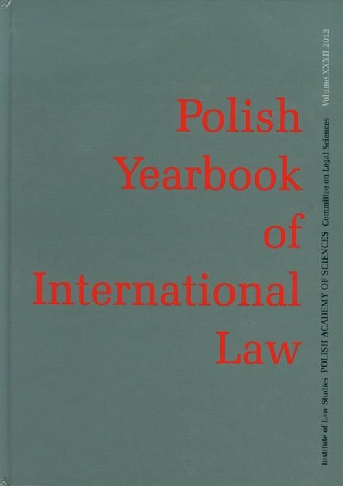okładka Polish Yearbook of International Law, Książka |