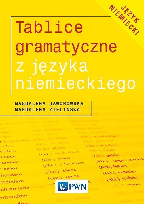 okładka Tablice gramatyczne z języka niemieckiego, Książka | Magdalena Jaworowska, Magdalena Zielińska