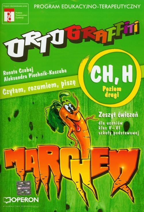 okładka Ortograffiti CH H poziom drugi zeszyt ćwiczeń, Książka | Czabaj Renata