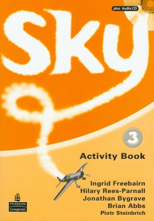 okładka Sky 3 Activity Book + CD Szkoła podstawowa, Książka   Ingrid Freebairn, Hilary Rees-Parnall, Bygrav
