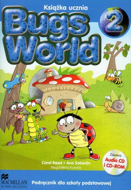 okładka Bugs World 2 Podręcznik z płytą CD Szkoła podstawowa, Książka | Carol Read, Ana Soberon, Magdalena Kondro