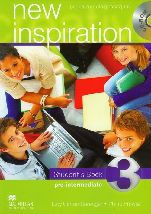 okładka New Inspiration 3 student's book with CD Gimnazjum, Książka | Judy Garton-Sprenger, Philip Prowse