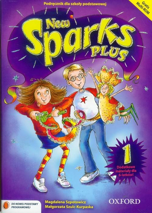 okładka New Sparks Plus 1 Podręcznik Szkoła podstawowa, Książka | Magdalena Szpotowicz, Małgorza Szulc-Kurpaska