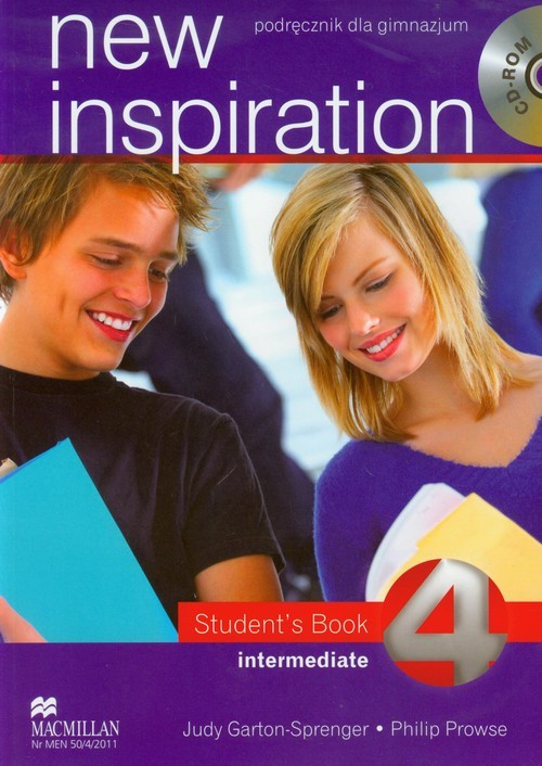 okładka New Inspiration 4 Intermediate Student's Book + CD gimnazjum, Książka | Judy Garton-Sprenger, Philip Prowse