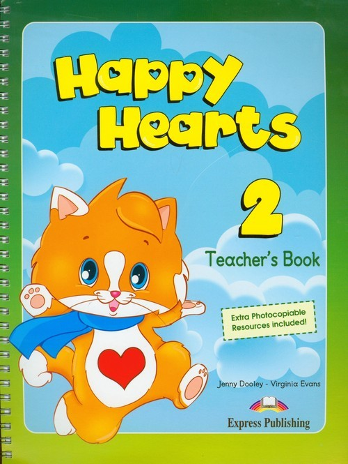 okładka Happy Hearts 2 Teacher's Book, Książka   Jenny Dooley, Virginia Evans