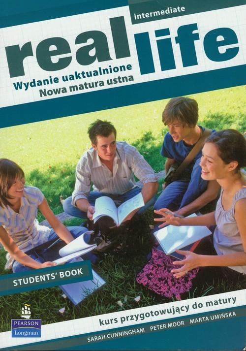 okładka Real Life Intermediate Student's Book, Książka | Sarah Cunningham, Peter Moor, Marta Umińska