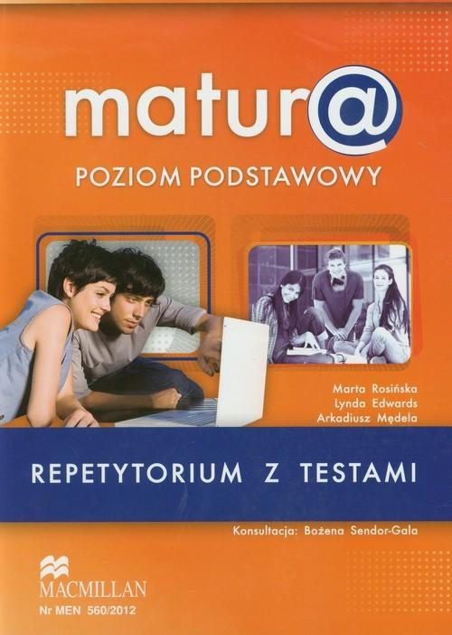 okładka Matura Repetytorium z testami Język angielski Poziom podstawowy + CD, Książka | Marta Rosińska, Lynda Edwards, Arkadiu Mędela
