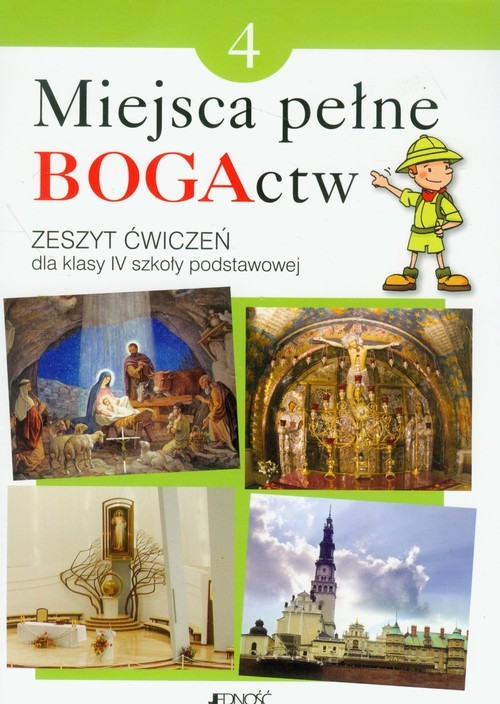 okładka Miejsca pełne BOGActw 4 Religia Zeszyt ćwiczeń Szkoła podstawowa, Książka | Elżbieta Kondrak, Ewelina Parszewska