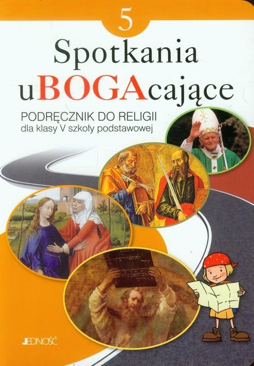 okładka Spotkania uBOGAcające 5 Religia Podręcznik Szkoła podstawowa, Książka | Krzysztof Mielnicki, Elżbieta Kondrak, Parsze