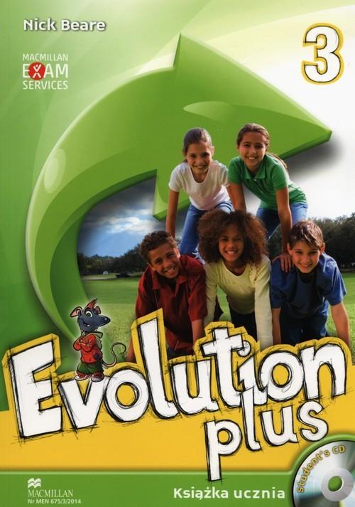 okładka Evolution Plus 3 Książka ucznia z płytą CD Szkoła podstawowa, Książka | Beare Nick