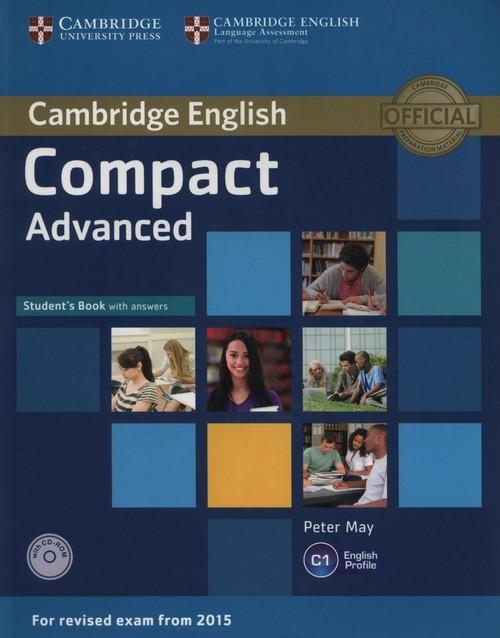 okładka Compact Advanced Student's Book with answers + CD, Książka | Peter May