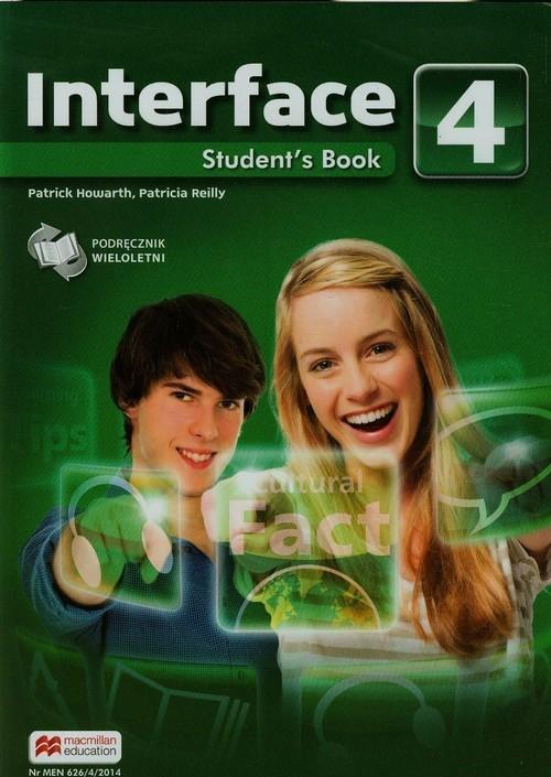 okładka Interface 4 Student's Book Gimnazjum, Książka | Patrick Howarth, Patricia Reilly